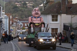 Salmond effigy